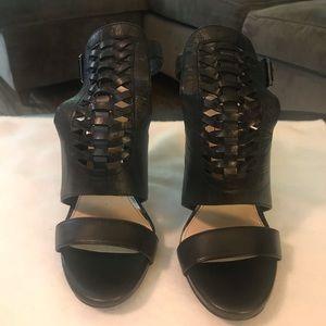 Jessica Simpson Black Leather Heels. Size 8.5.